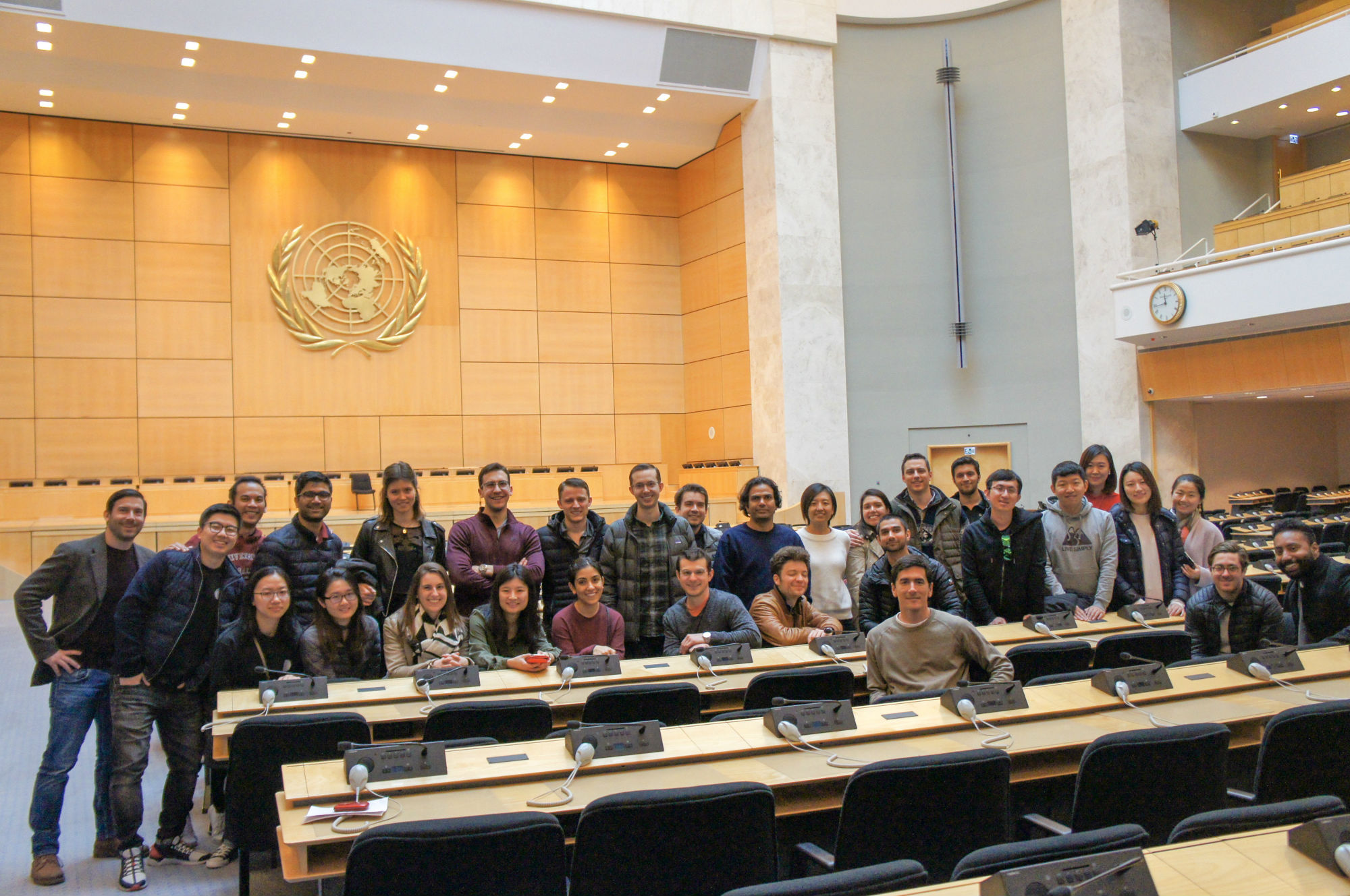 Students at the United Nations in Geneva